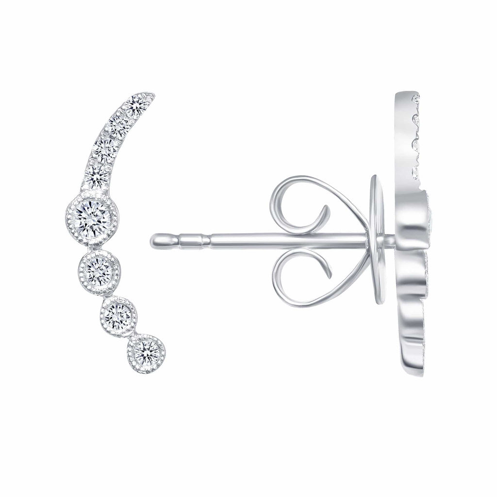 The  Diamond Ear Climb - Happy Jewelers Fine Jewelry Lifetime Warranty