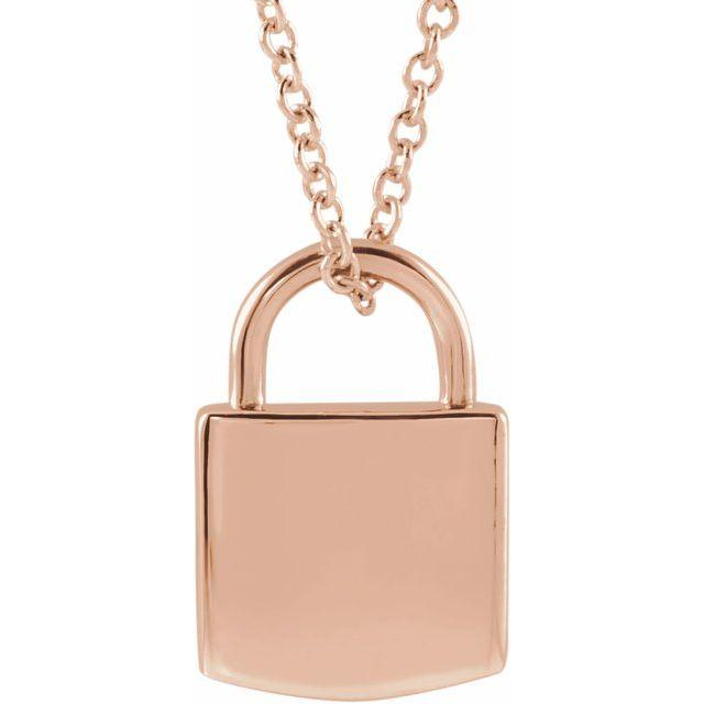 Lock Necklace - Happy Jewelers Fine Jewelry Lifetime Warranty