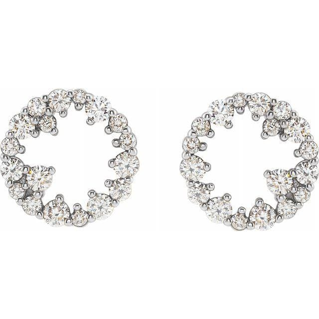 Circular Diamond Cluster Studs - Happy Jewelers Fine Jewelry Lifetime Warranty