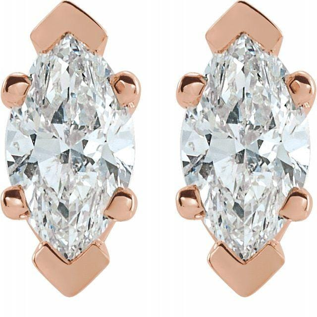 Marquise Diamond Studs - Happy Jewelers Fine Jewelry Lifetime Warranty