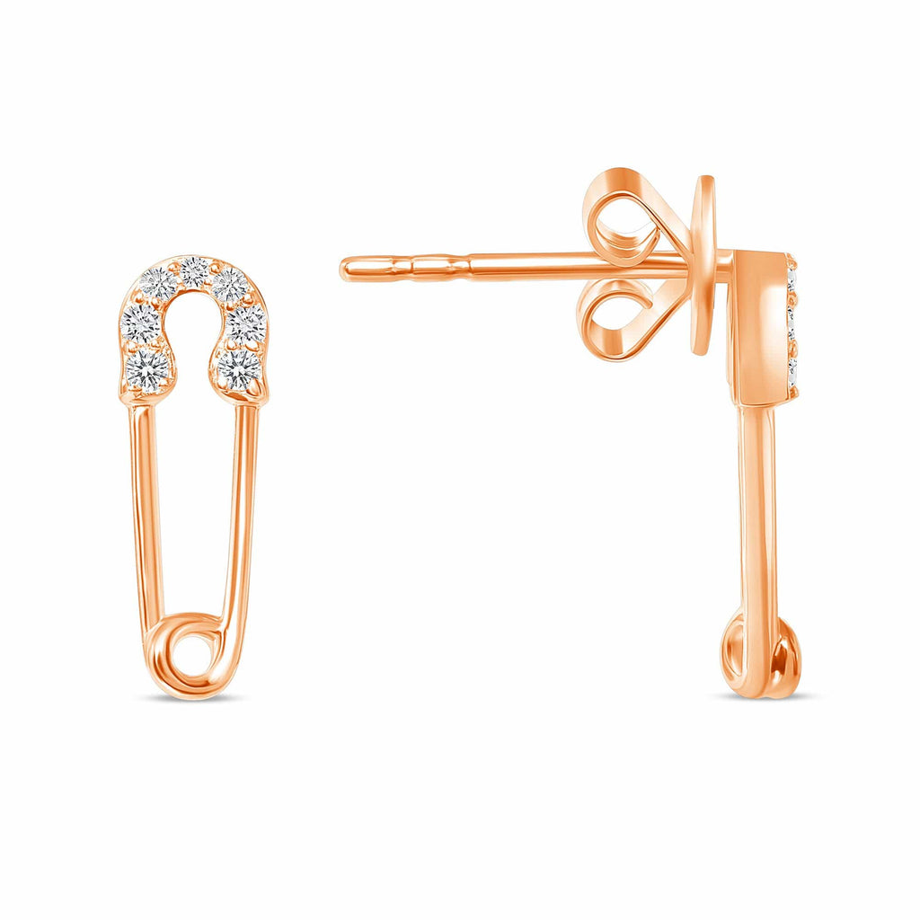 Mini Safety Pin Earrings - Happy Jewelers Fine Jewelry Lifetime Warranty