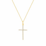 Small Thin Cross Diamond Cross - Happy Jewelers Fine Jewelry Lifetime Warranty