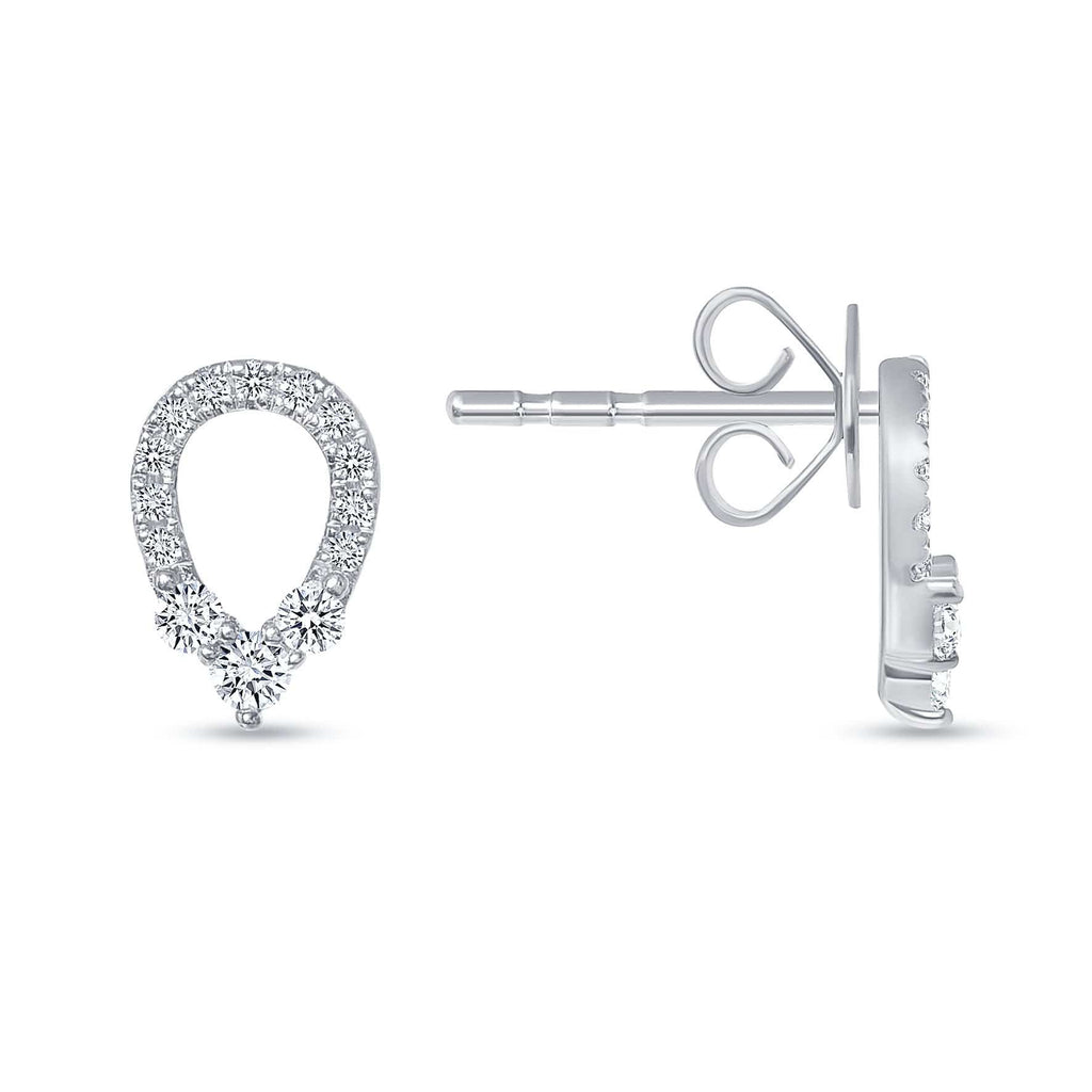 Teardrop Studs - Happy Jewelers Fine Jewelry Lifetime Warranty