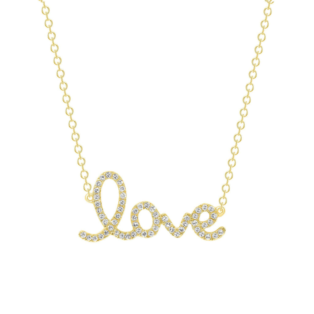 Large Diamond LOVE necklace - Happy Jewelers Fine Jewelry Lifetime Warranty