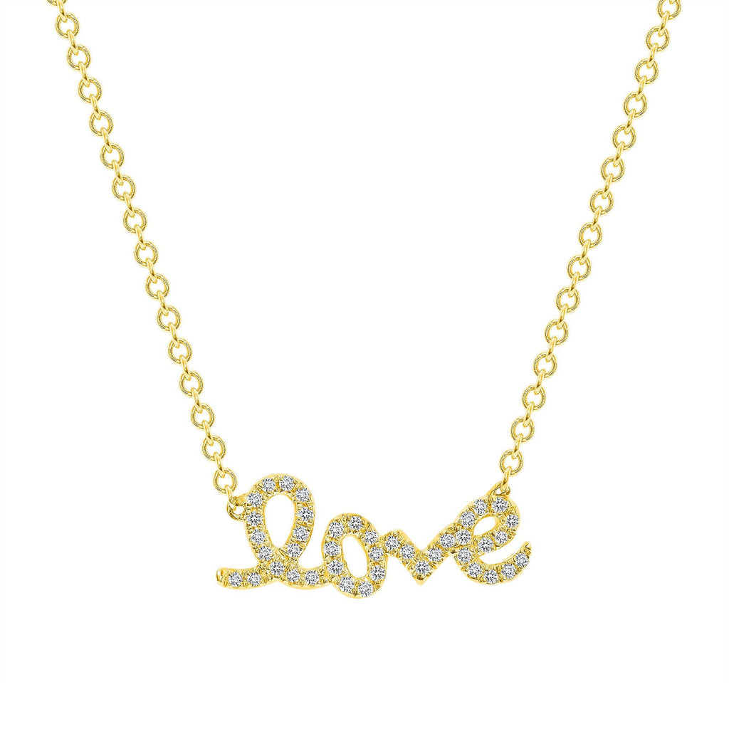 Small Diamond LOVE necklace - Happy Jewelers Fine Jewelry Lifetime Warranty