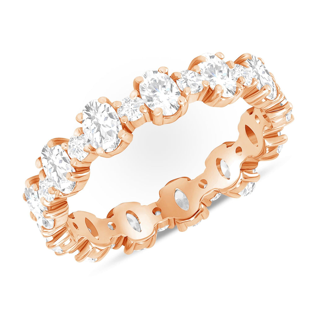 Round + Oval Stackable Eternity Band - Happy Jewelers Fine Jewelry Lifetime Warranty
