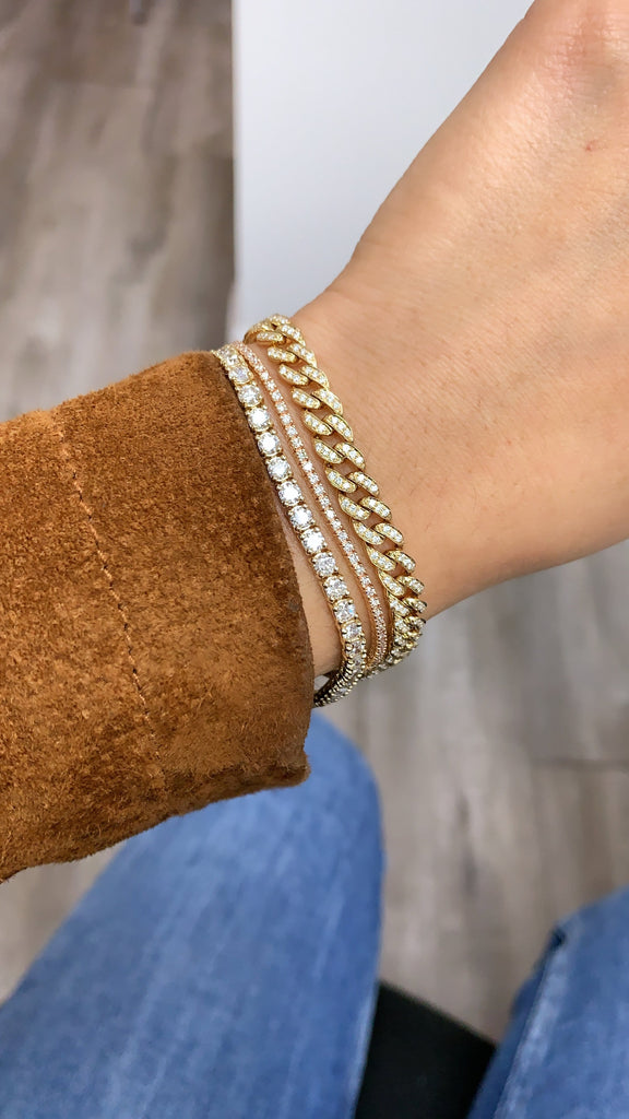 3.4mm Diamond Tennis Bracelet - Happy Jewelers Fine Jewelry Lifetime Warranty