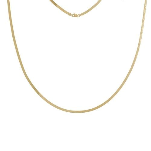 2.7mm The Mini Lovie Herringbone Necklace - Happy Jewelers Fine Jewelry Lifetime Warranty