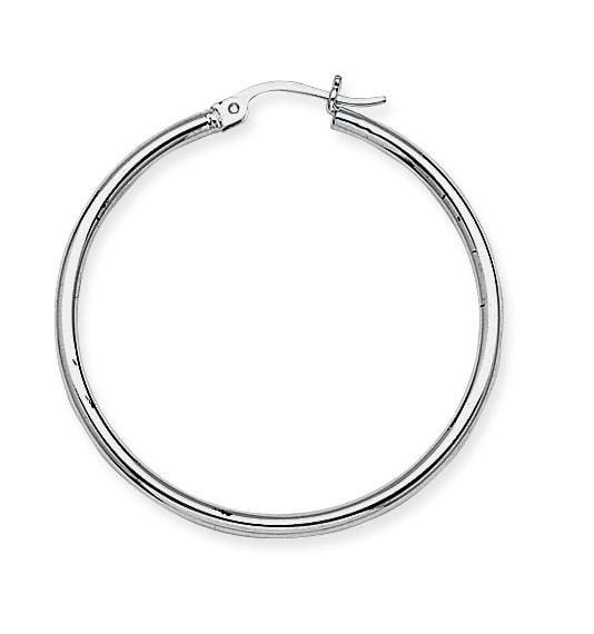 2.0mm Medium Polished Hoops - Happy Jewelers Fine Jewelry Lifetime Warranty
