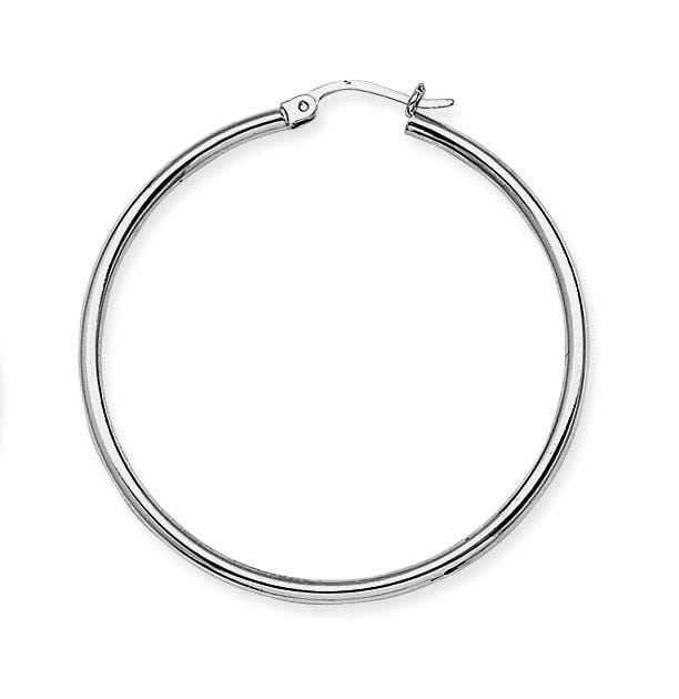 2mm Large Polished Hoops - Happy Jewelers Fine Jewelry Lifetime Warranty