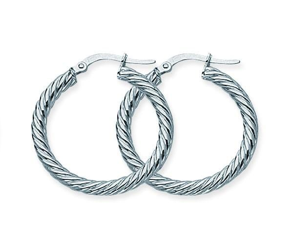 Small Twisted Rope Hoops - Happy Jewelers Fine Jewelry Lifetime Warranty