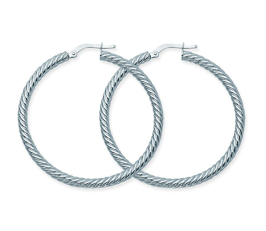 Medium Twisted Rope Hoops - Happy Jewelers Fine Jewelry Lifetime Warranty