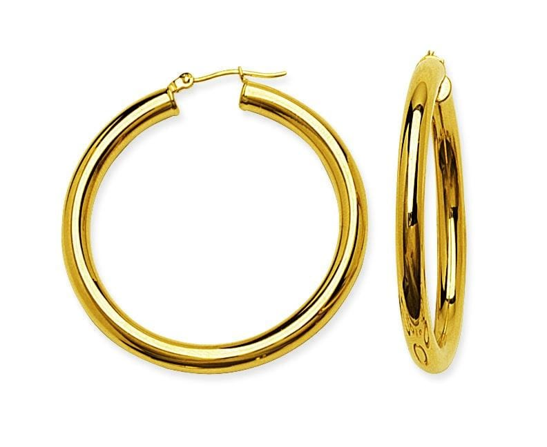 4.0mm Large Thick Hoops - Happy Jewelers Fine Jewelry Lifetime Warranty