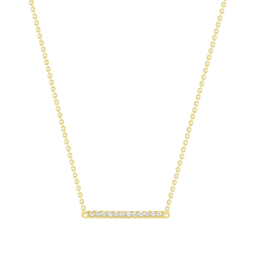 Mini Diamond Bar Necklace - Happy Jewelers Fine Jewelry Lifetime Warranty