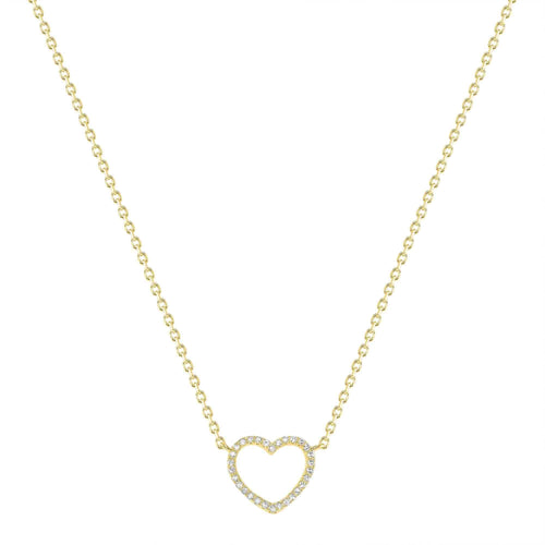 Small Open-Heart Diamond Necklace - Happy Jewelers Fine Jewelry Lifetime Warranty