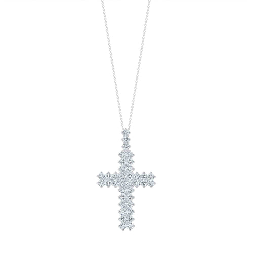 Double Row Diamond Cross - Happy Jewelers Fine Jewelry Lifetime Warranty