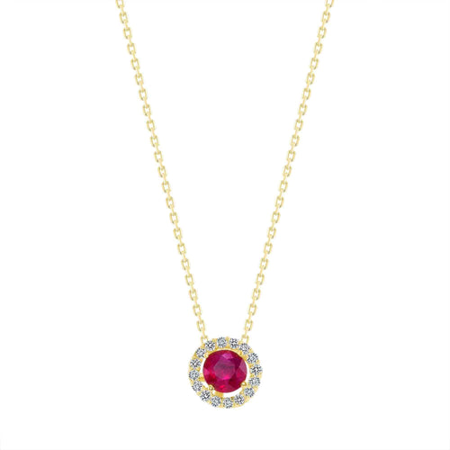 Red Ruby Necklace - Happy Jewelers Fine Jewelry Lifetime Warranty