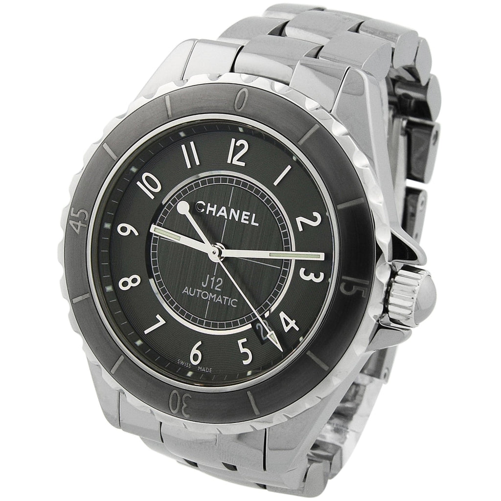 Chanel Lady J12 Titanium & Ceramic 38mm Grey Arabic Dial Watch Watch - Happy Jewelers Fine Jewelry Lifetime Warranty