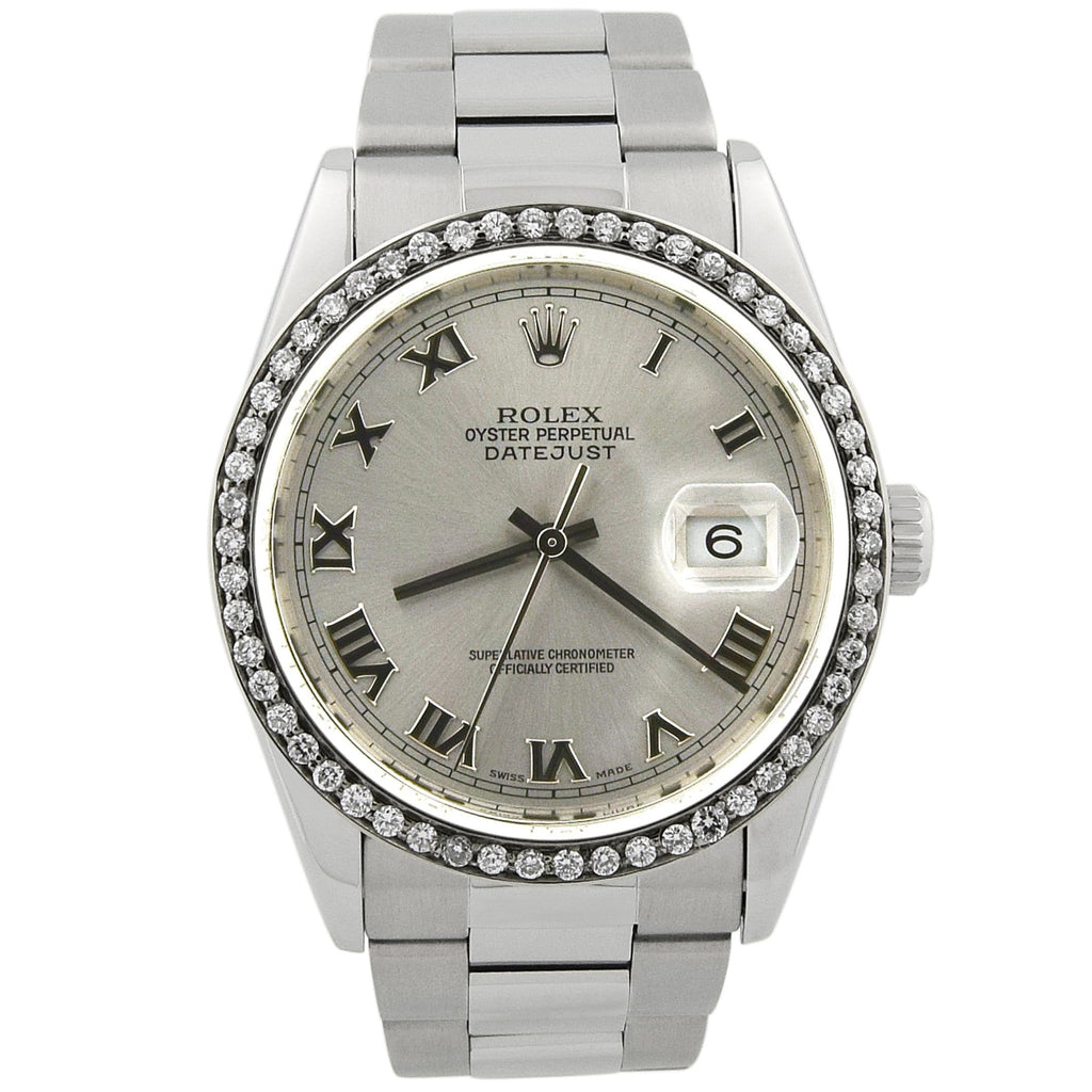 Rolex Lady Datejust Stainless Steel 36mm Silver Roman Dial Watch Reference #: 16234 - Happy Jewelers Fine Jewelry Lifetime Warranty