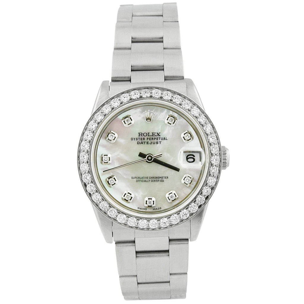 Rolex Lady Datejust Stainless Steel 31mm MOP Diamond Dial Watch Reference #: 78240 - Happy Jewelers Fine Jewelry Lifetime Warranty