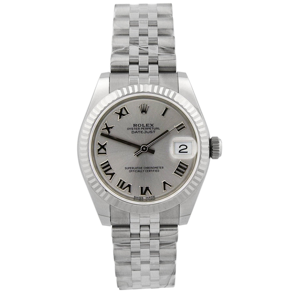 Rolex Lady Datejust Stainless Steel 31mm Rhodium Roman Dial Watch - Happy Jewelers Fine Jewelry Lifetime Warranty