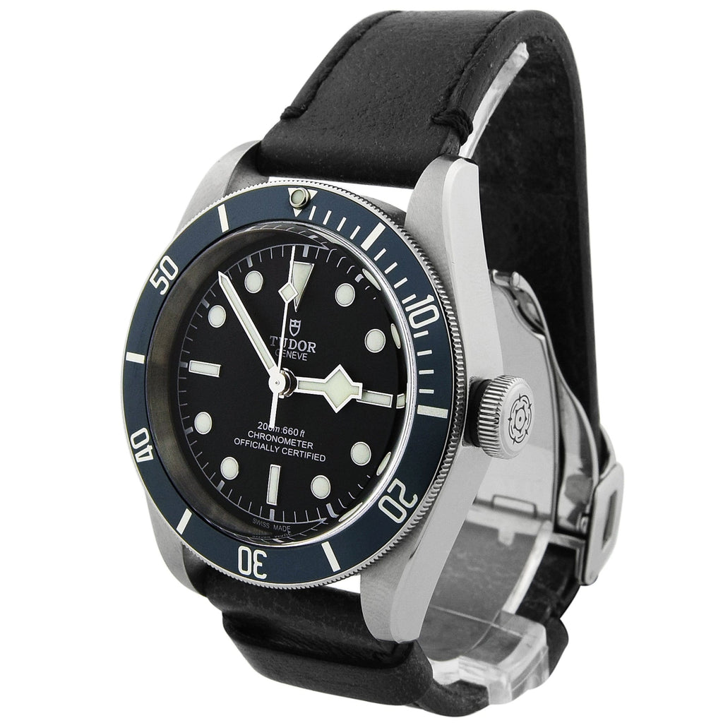 Tudor Mens Heritage Black Bay Stainless Steel 41mm Black Dial Watch - Happy Jewelers Fine Jewelry Lifetime Warranty