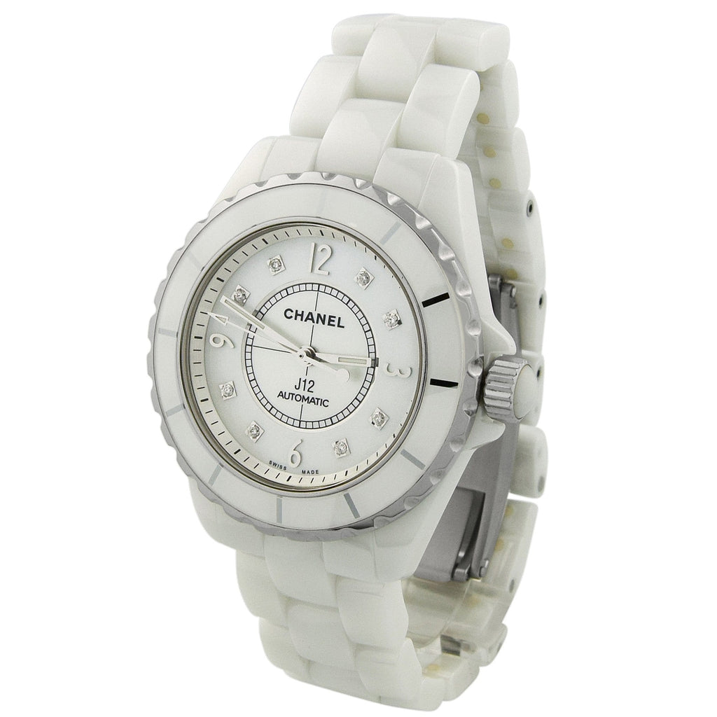 Chanel Lady J12 Ceramic & Steel 38mm MOP Dial Watch - Happy Jewelers Fine Jewelry Lifetime Warranty