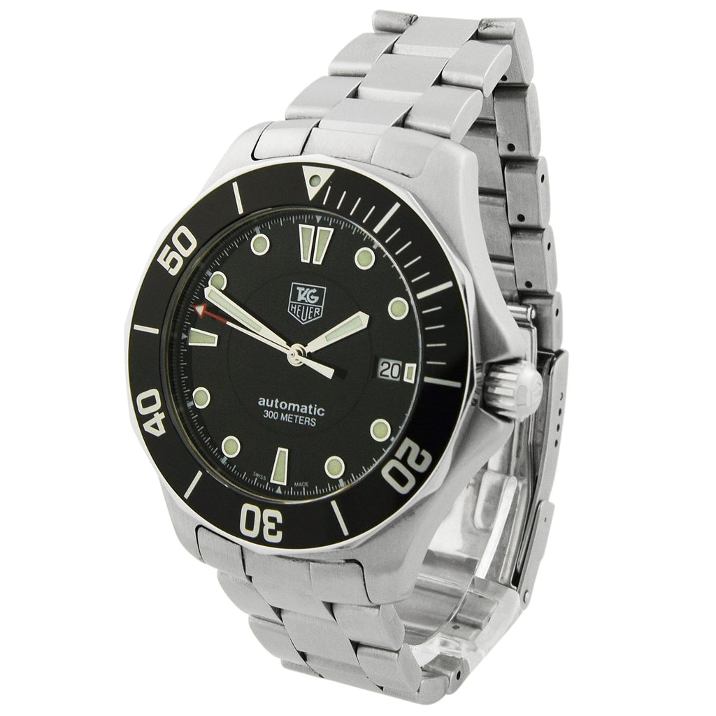 Tag Heuer Mens Aquaracer Stainless Steel 41mm Black Dial Watch - Happy Jewelers Fine Jewelry Lifetime Warranty