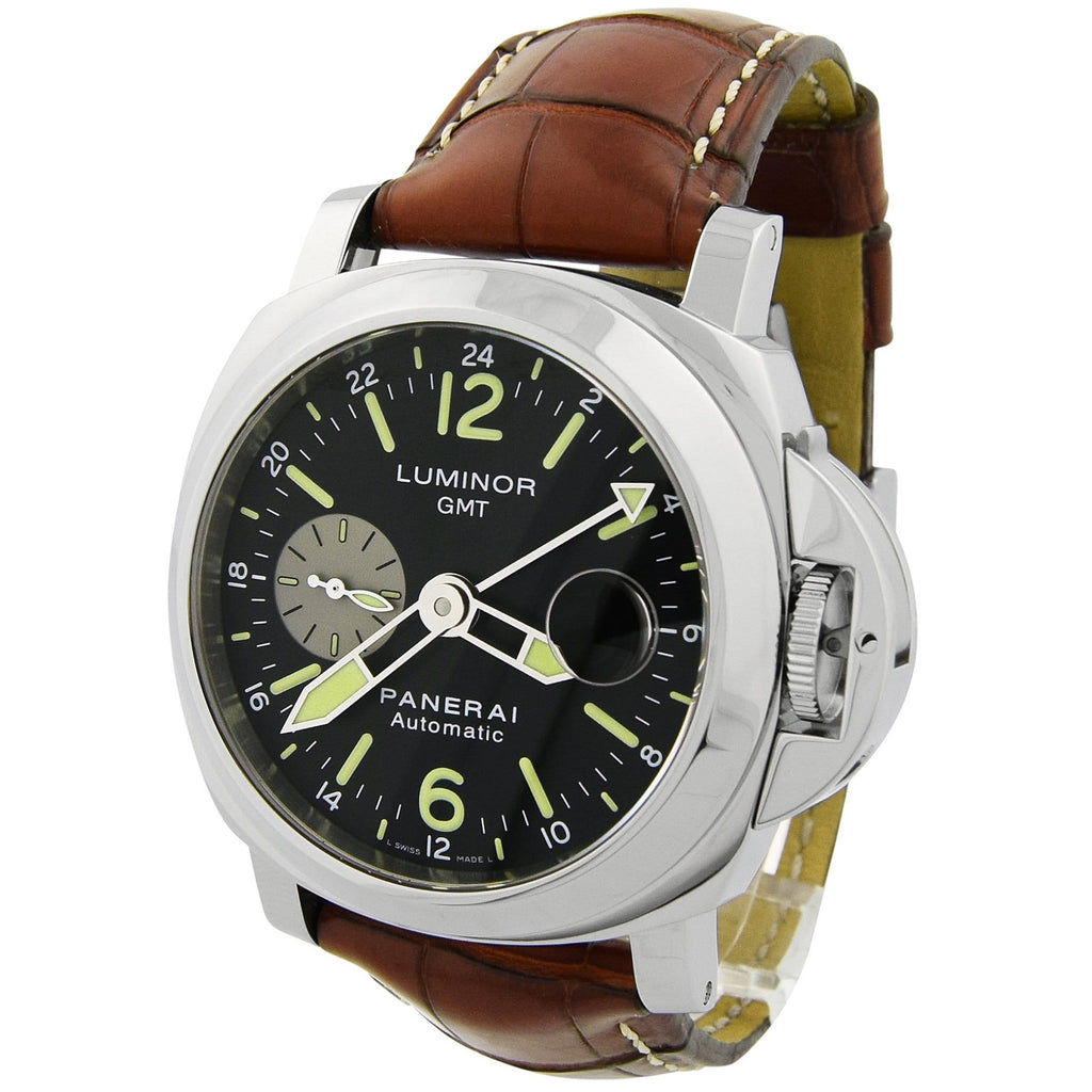 Panerai Men's Luminor Firenze 1860 Stainless Steel 44mm Black Dial Watch - Happy Jewelers