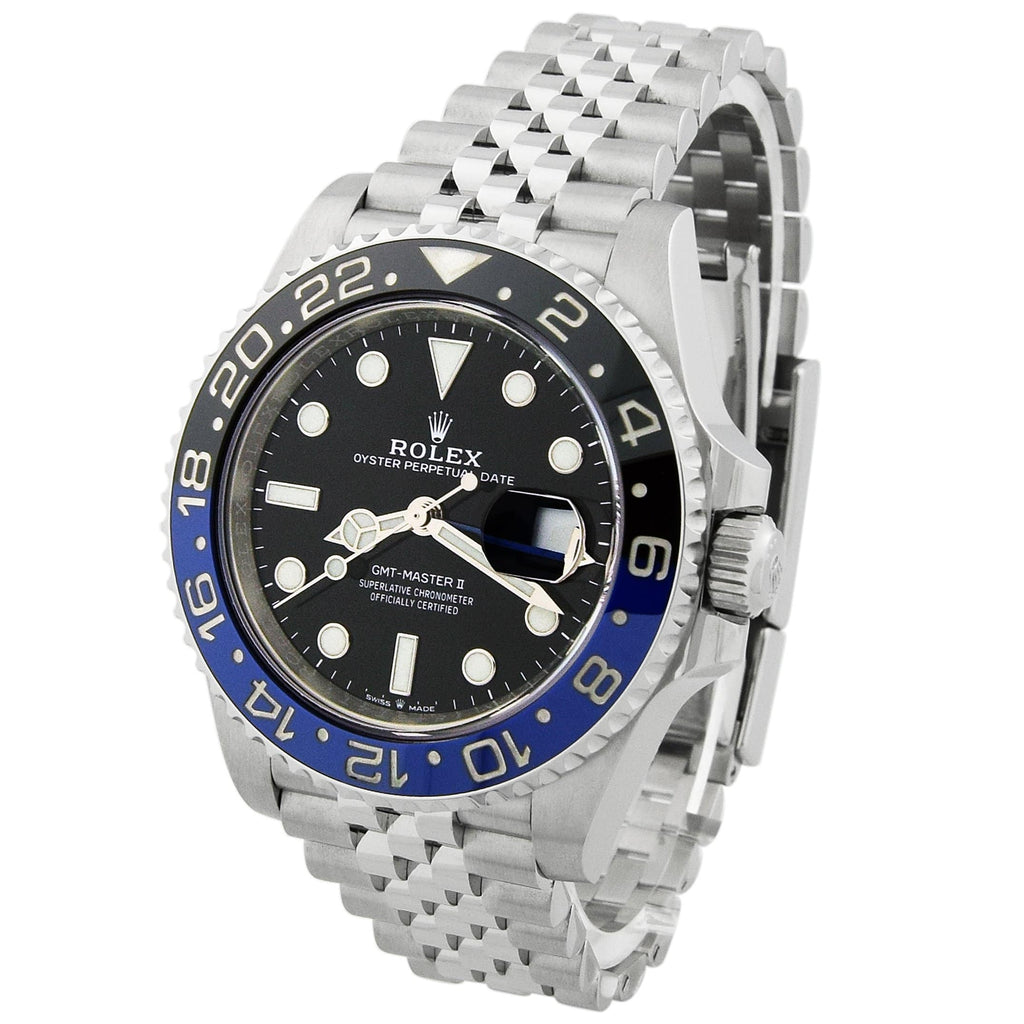 Rolex Mens GMT-Master II Stainless Steel 40mm Black Luminous Dial - Happy Jewelers Fine Jewelry Lifetime Warranty