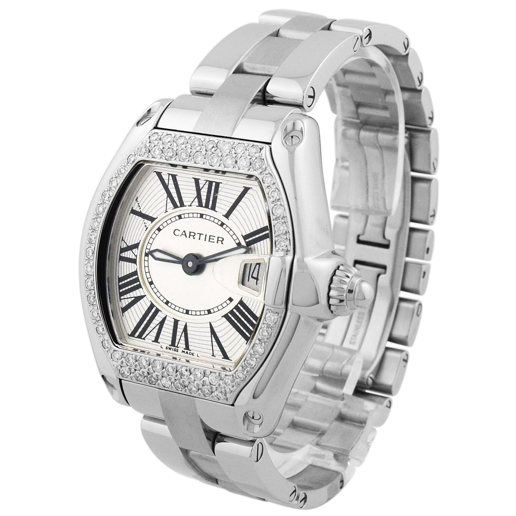 Cartier Lady Roadster Stainless Steel 31mm Silver Roman Dial Watch Reference #: 2675 - Happy Jewelers Fine Jewelry Lifetime Warranty