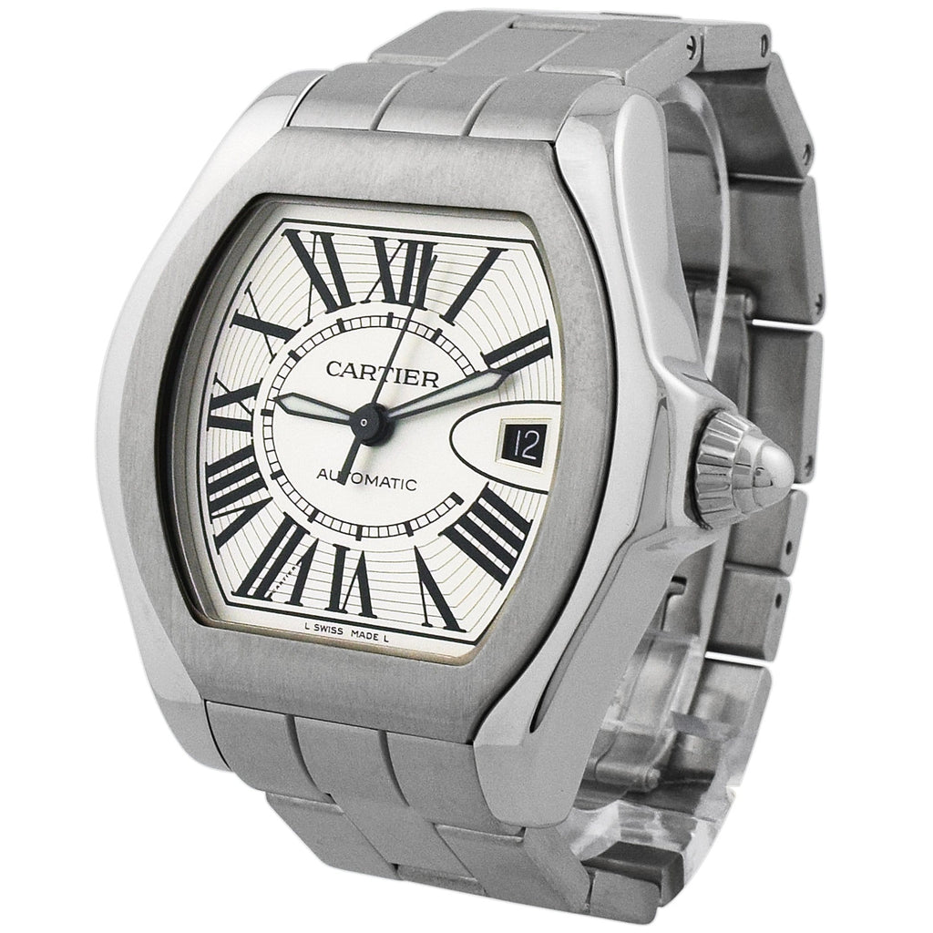 Cartier Lady Roadster Stainless Steel 40mm Silver Roman Dial Watch