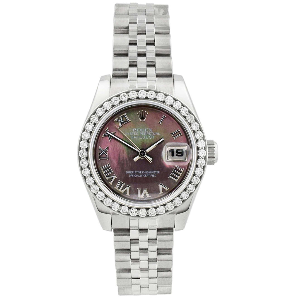 Rolex Lady Datejust Stainless Steel 26mm MOP Roman Dial Watch Reference #: 178241 - Happy Jewelers Fine Jewelry Lifetime Warranty