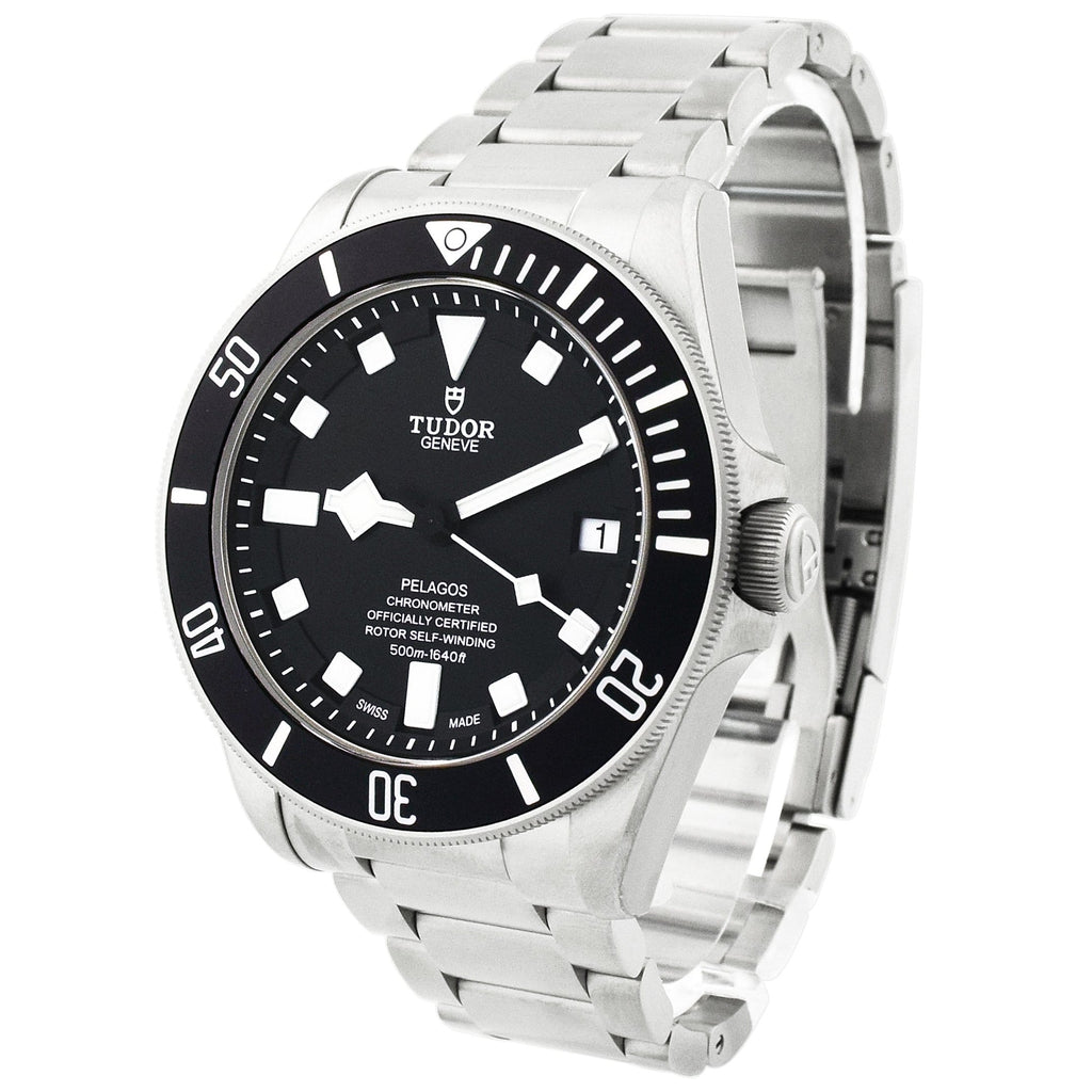 Tudor Mens Pelagos Titanium & Steel 42mm Black Dial Watch - Happy Jewelers Fine Jewelry Lifetime Warranty