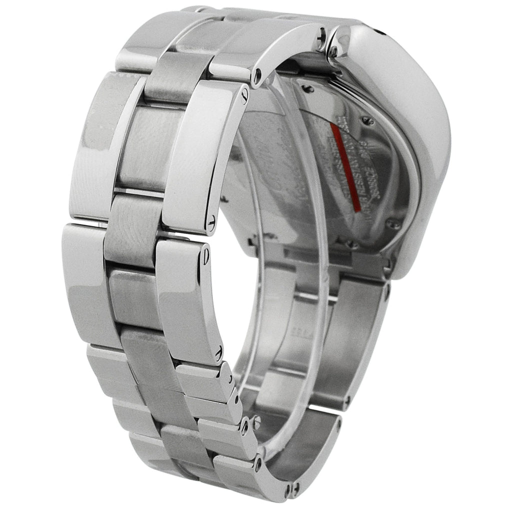 Cartier Mens Roadster XL Stainless Steel 43x49mm Black Roman Dial Watch - Happy Jewelers Fine Jewelry Lifetime Warranty