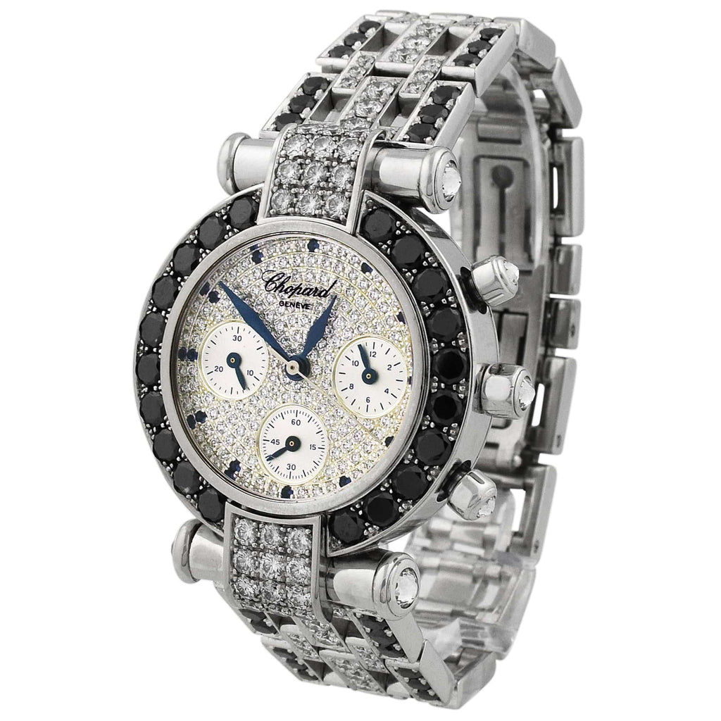 Chopard Lady Imperiale 18KT White Gold 32mm Diamond Dial Watch - Happy Jewelers Fine Jewelry Lifetime Warranty