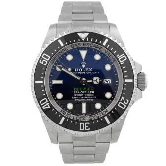 Rolex Mens Deepsea Sea Dweller Stainless Steel 44mm Deep Blue Dial Reference #: 126660