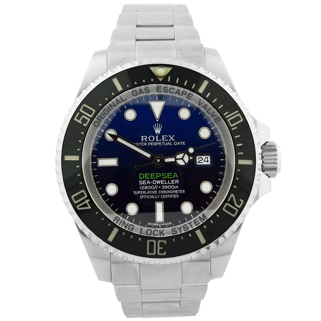Rolex Mens Deepsea Sea-Dweller Stainless Steel 44mm Deepblue Dot Dial Watch Reference #: 116660 - Happy Jewelers Fine Jewelry Lifetime Warranty