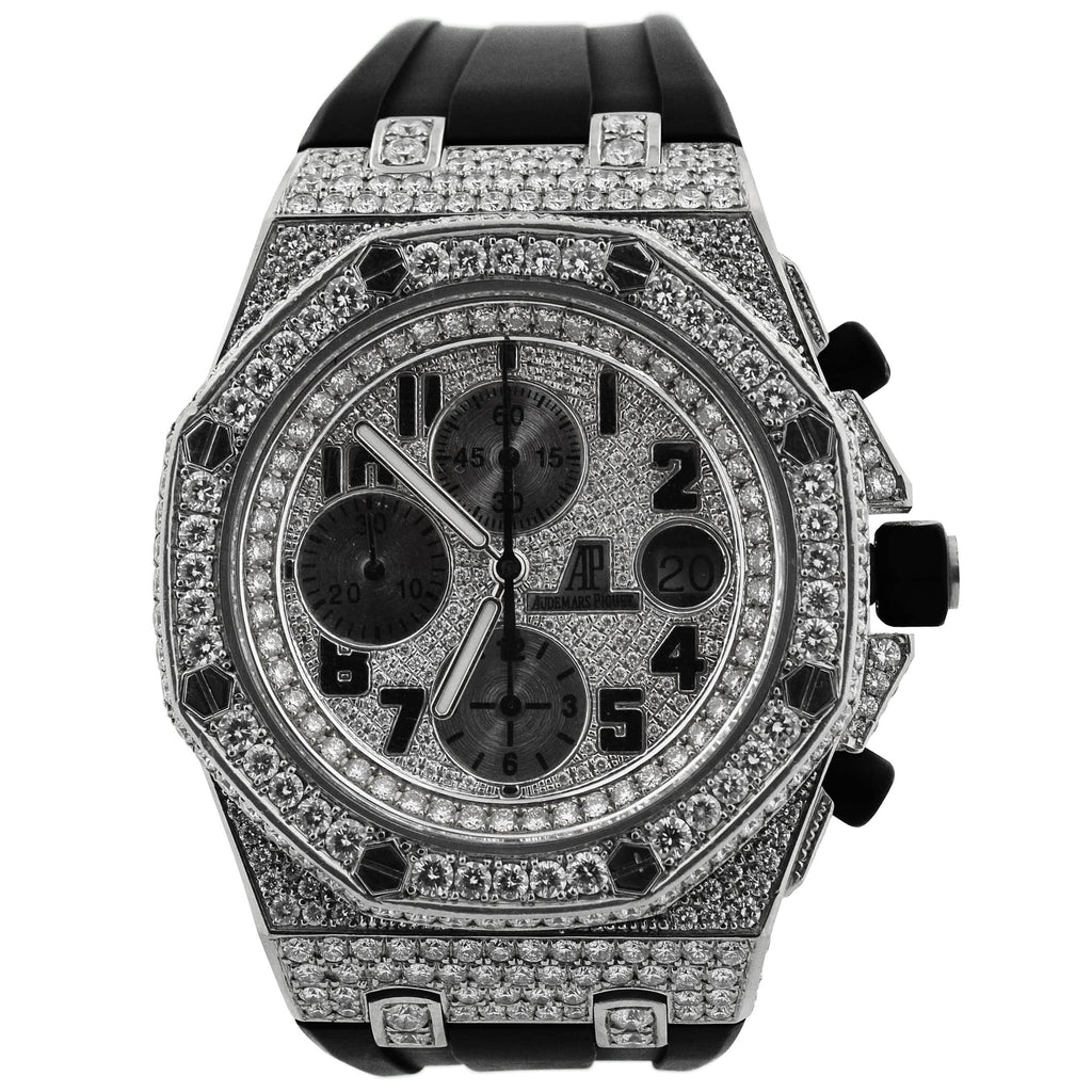 Audemars Piguet Mens Royal Oak Offshore Stainless Steel 42mm Diamond Arabic Chronograph Watch Reference #: 26170ST.OO.D101CR.03 - Happy Jewelers Fine Jewelry Lifetime Warranty