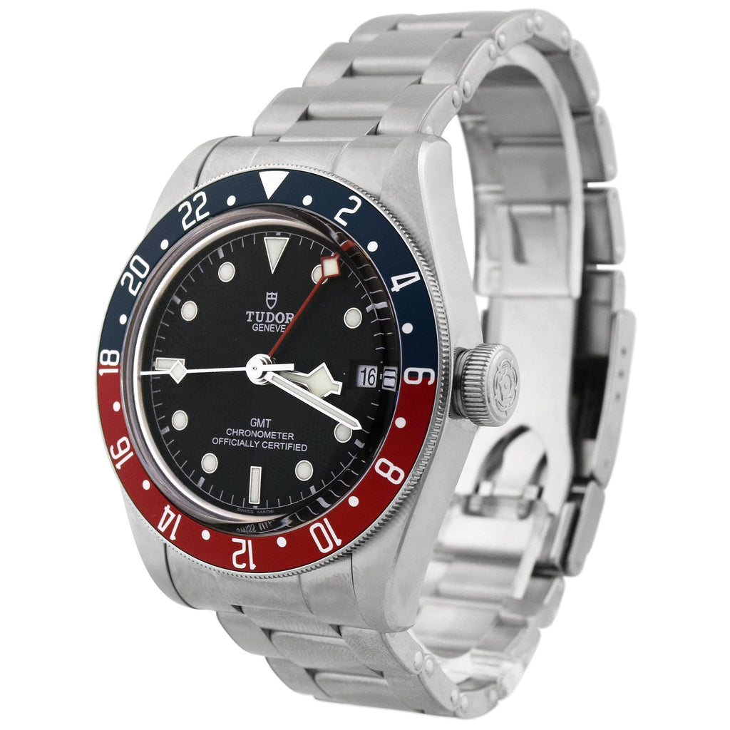 Tudor Mens Black Bay Stainless Steel 41mm Black Dot Dial Watch Reference #: 79830RB - Happy Jewelers Fine Jewelry Lifetime Warranty