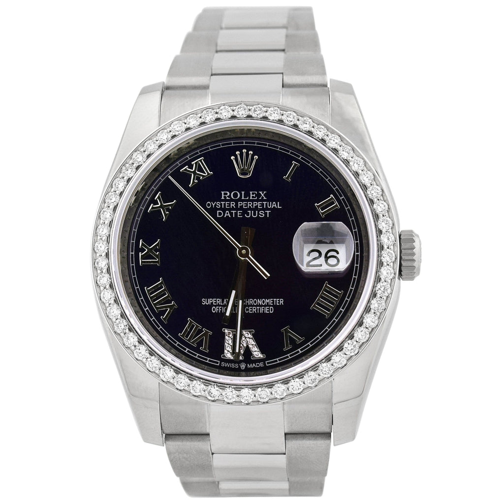 Rolex Unisex Datejust Stainless Steel 36mm Blue Roman Dial Watch Reference #: 116200 - Happy Jewelers Fine Jewelry Lifetime Warranty
