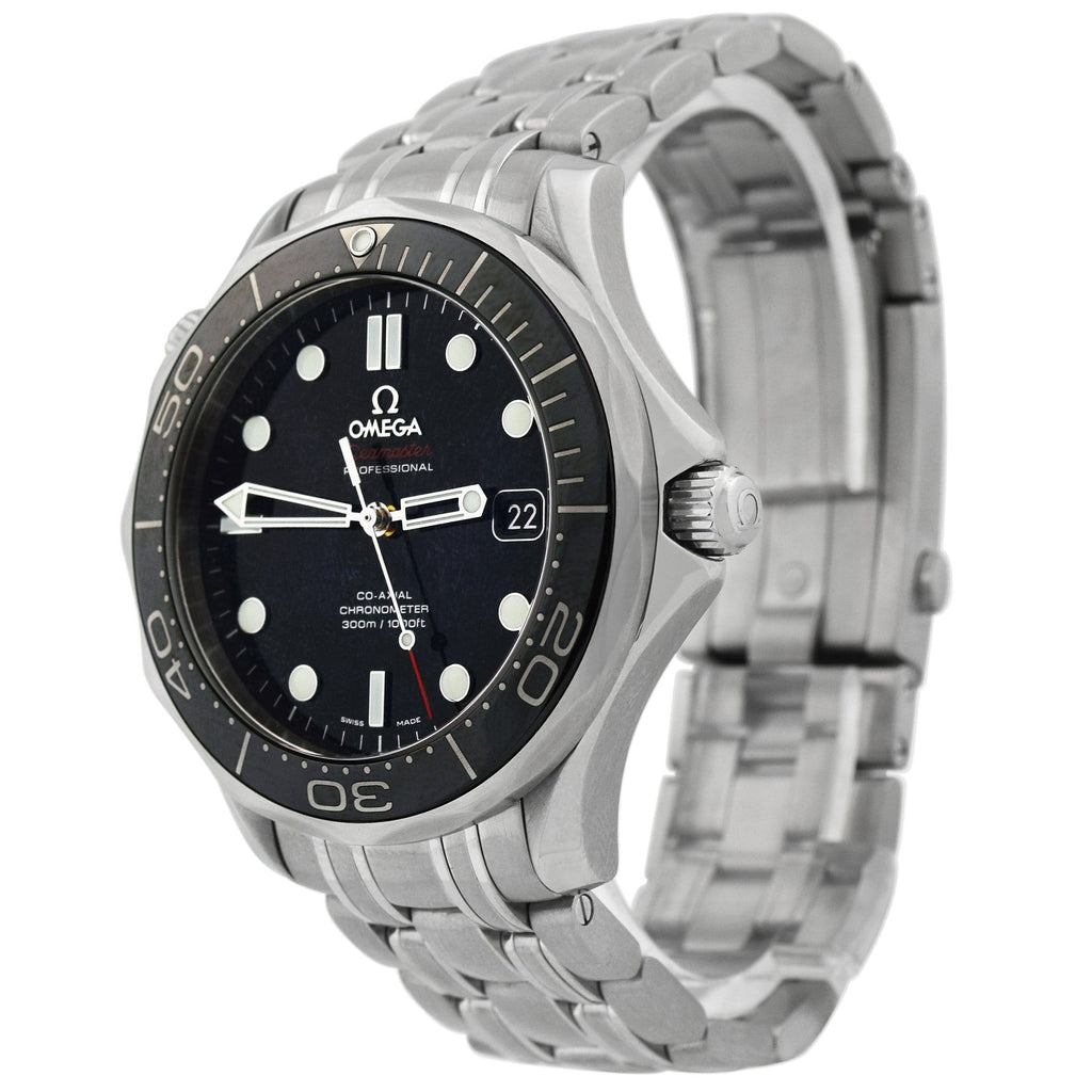 Omega Mens Seamaster Stainless Steel 41mm Black Dot Dial Watch Reference #: 212.30.41.20.03.001 - Happy Jewelers Fine Jewelry Lifetime Warranty