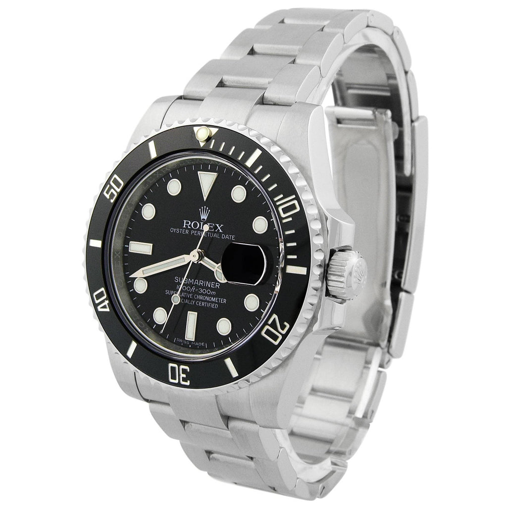 Rolex Mens Submariner Stainless Steel 40mm Black Dot Dial Watch Reference #: 116610LN