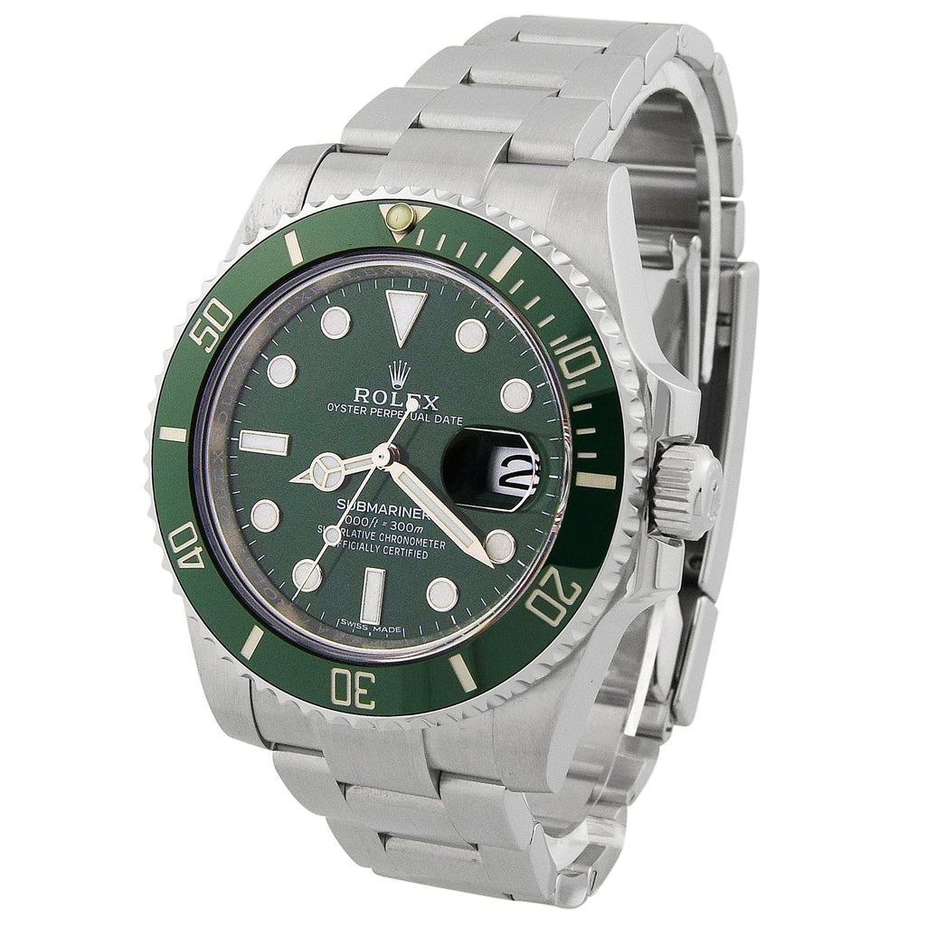 Rolex Mens Submariner HULK Stainless Steel 40mm Green Dot Dial Watch Reference #: 116610LV