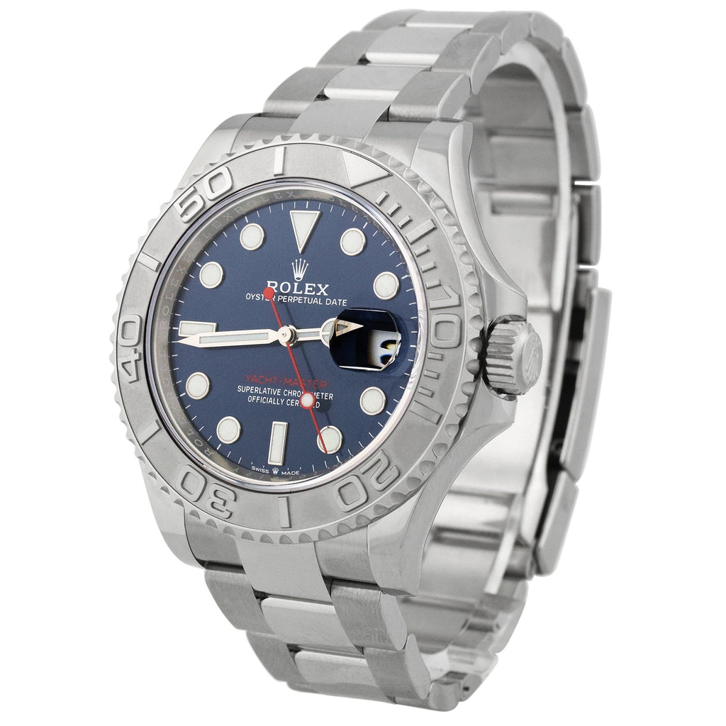 Rolex Mens Yacht-Master Stainless Steel 40mm Blue Dot Dial Watch Reference: 126622 - Happy Jewelers Fine Jewelry Lifetime Warranty