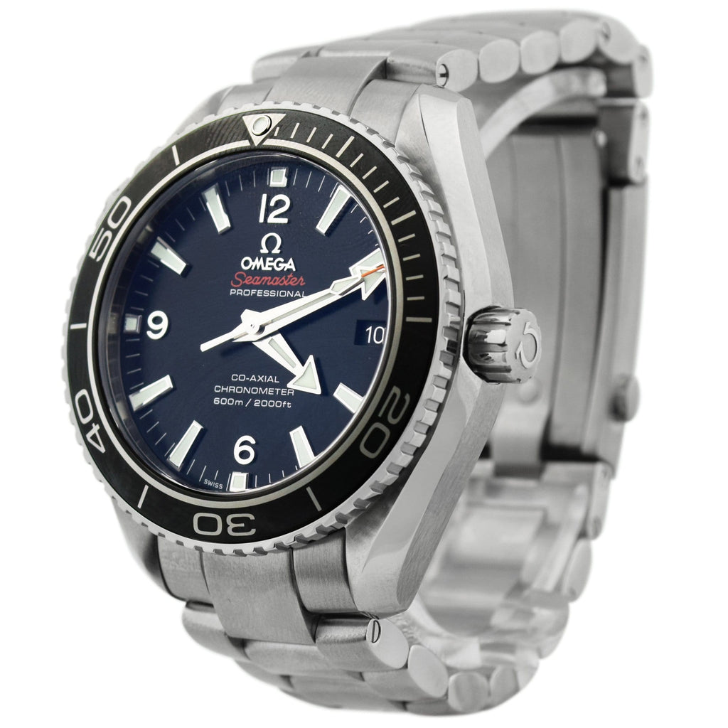Omega Mens Seamaster Planet Ocean Stainless Steel 45.5mm Black Stick & Arabic Dial Watch Reference #: 232.30.46.21.01.001 - Happy Jewelers Fine Jewelry Lifetime Warranty