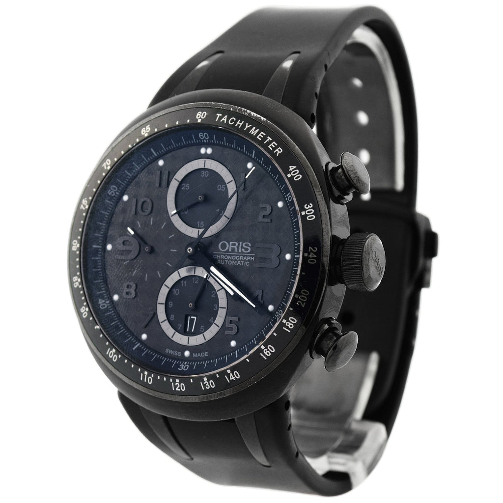 Oris Mens TT3 Chronograph Titanium 44.5mm Black Arabic Dial Watch Reference #: 674 7611 7764 RS - Happy Jewelers Fine Jewelry Lifetime Warranty