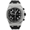 Audemars Piguet Mens Royal Oak Offshore Stainless Steel 42mm Black Tapisserie Arabic Dial Watch Reference #: 26170ST.OO.D101CR.03 - Happy Jewelers Fine Jewelry Lifetime Warranty