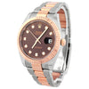 Rolex Unisex Datejust 18K Rose Gold & Steel 41mm Chocolate Diamond Dial Watch Reference #: 126331 - Happy Jewelers Fine Jewelry Lifetime Warranty