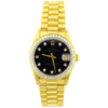 Rolex Unisex Datejust 18K Yellow Gold 31mm Black Diamond Dot Dial Watch Reference #: 68278 - Happy Jewelers Fine Jewelry Lifetime Warranty